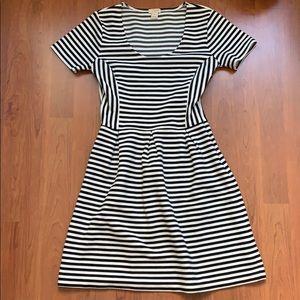 J. Crew Striped Knit Short Sleeve Dress Sz 0
